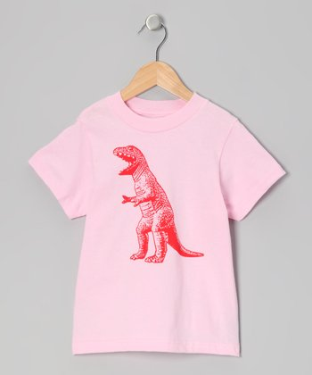 Light Pink T-Rex Tee - Infant, Toddler & Girls