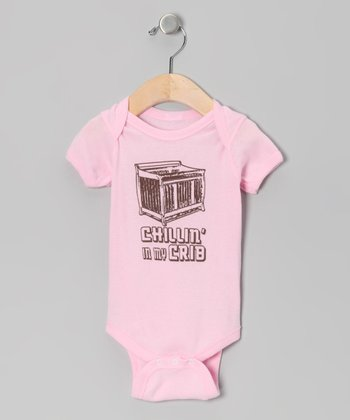 Light Pink 'Chillin' In My Crib' Bodysuit - Infant