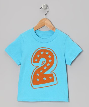 Aqua Blue Superstar 2nd Birthday Tee - Toddler