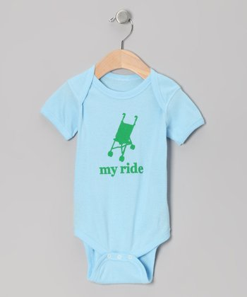 Light Blue 'My Ride' Bodysuit - Infant