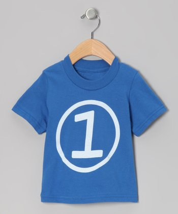Royal Blue First Birthday Circle Tee - Toddler