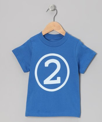Royal Blue Second Birthday Circle Tee - Toddler