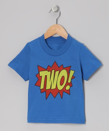 Royal Blue 'TWO!' Tee - Toddler