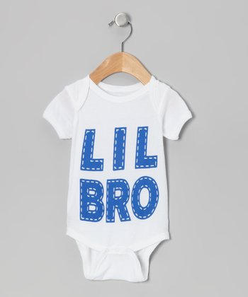 White 'Lil Bro' Bodysuit - Infant