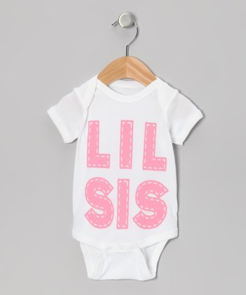 White 'Lil Sis' Bodysuit - Infant