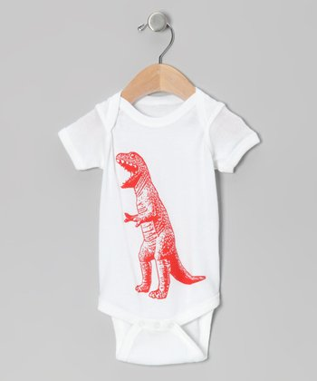 White T-Rex Bodysuit - Infant