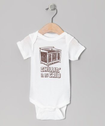 White 'Chillin' In My Crib' Bodysuit - Infant