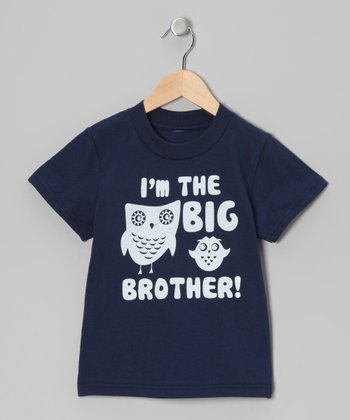 Navy 'I'm The Big Brother' Tee - Infant, Toddler & Boys