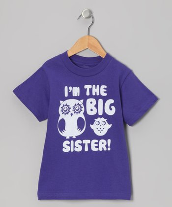 Purple 'I'm The Big Sister' Tee - Infant, Toddler & Girls