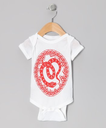 White Year of the Snake Bodysuit - Infant