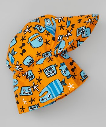 Orange Monster Fish Desert Hat
