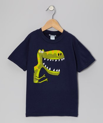 Navy Big Tooth Dino Tee - Infant, Toddler & Boys