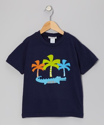 Navy Cool Croc Tee - Infant, Toddler & Boys