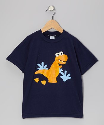 Navy Dancing Dino Tee - Infant, Toddler & Boys