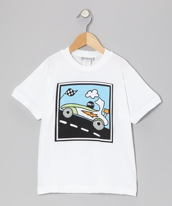 White Racecar Tee - Infant, Toddler & Boys