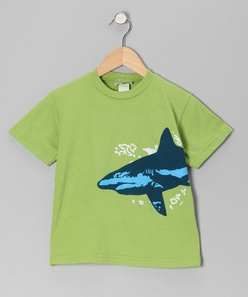 Green Shark Patrol Tee - Toddler & Boys