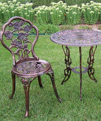 Rose Three-Piece Bistro Set