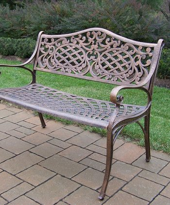 Antique Bronze Mississippi Settee Bench