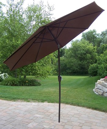 Brown 9' Umbrella with Crank & Tilt