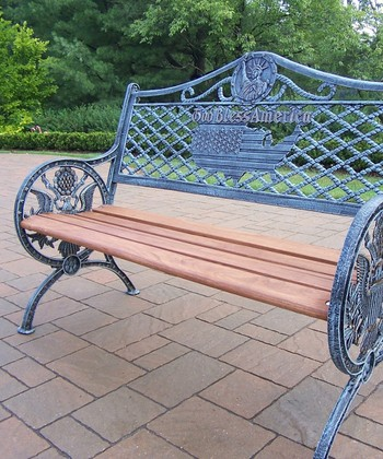 'God Bless America' Bench