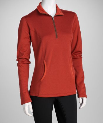 Kerrits Red Ember Heathered Pullover - Women & Plus