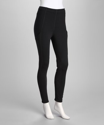 Black Power-Stretch Pocket Tights - Women
