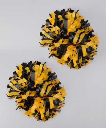 Black & Gold Pom-Pom Set