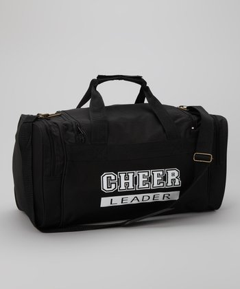 Black & White 'Cheerleader' Duffel Bag