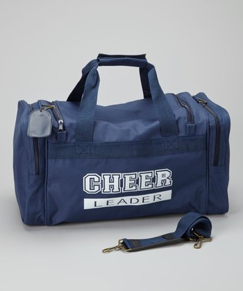Navy & White 'Cheer' Duffel Bag