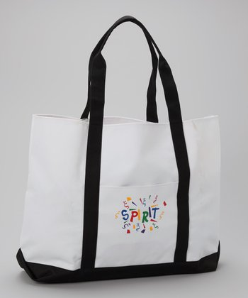 White & Black 'Spirit' Tote