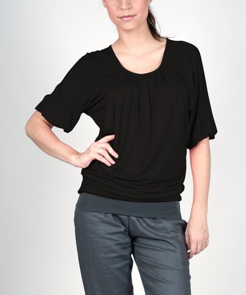 Black Operetta Maternity & Nursing Top - Women