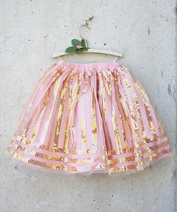 Blush Sequin Hattie Skirt - Toddler & Girls
