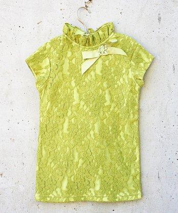Green Lace Nina Tunic - Toddler & Girls