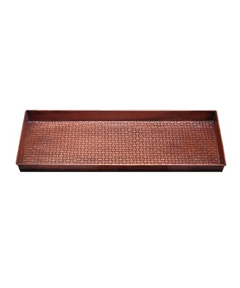 Antique Copper Basketweave Boot Tray