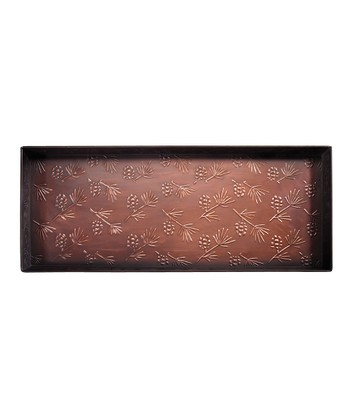 Bronze Pinecone Embossed Shoe & Plant Tray