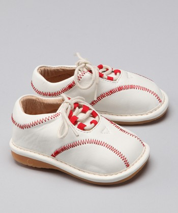 Laniecakes White Baseball Squeaker Sneaker
