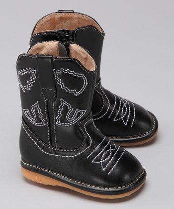 Laniecakes Black Squeaker Cowboy Boot