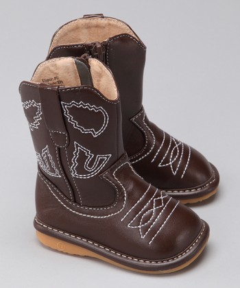 Chocolate Brown Squeaker Cowboy Boot