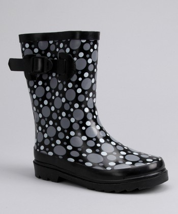 Black & Gray Rain Boot