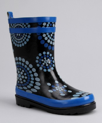 Blue Dot Rain Boot