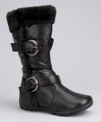 Black Smooth Boot