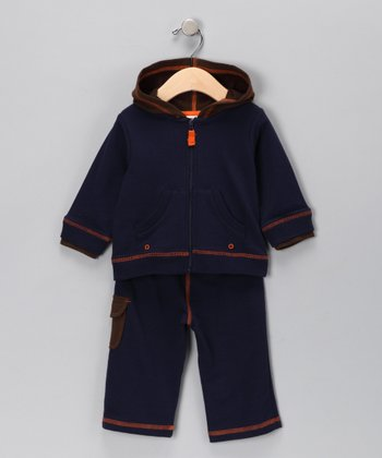 Navy Zip-Up Hoodie & Pants