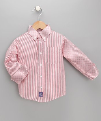 Red & White Striped Shirt - Toddler & Boys