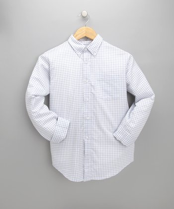 Blue Plaid Firenze Shirt - Toddler & Boys