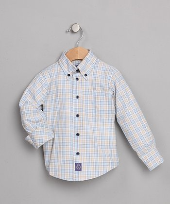 Blue & Yellow Plaid Lido Shirt - Toddler & Boys
