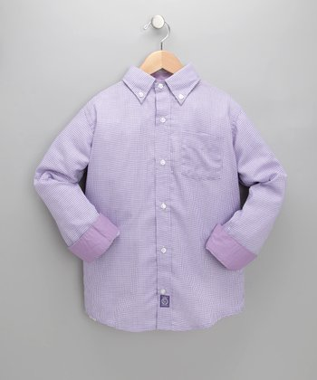 Purple Houndstooth Sorrento Shirt - Toddler & Boys