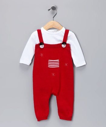 Red Snowman Playsuit & Top - Infant