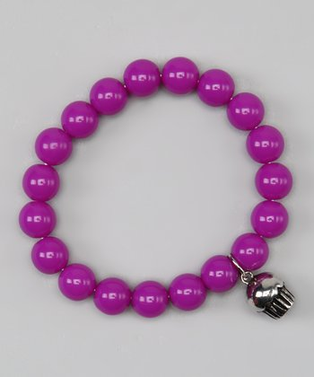 Purple Cupcake Stretch Bracelet