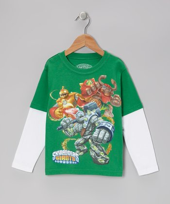 Green & White 'Skylanders Giants' Layered Tee - Kids