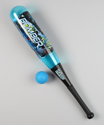 Blue Bozagga Bomber Bat & Ball